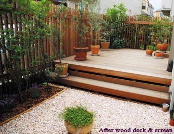 植栽のグリーンと組合せで上手な目隠し効果、たて格子ルーバーウッドフェンス|青葉区W様邸