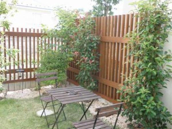 目隠しウッドフェンスで、中庭風プライベートガーデンの誕生です|横浜市青葉区Y様邸