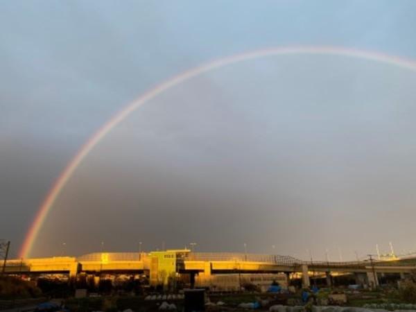 ものすごい大雨の後に素晴らしい景色が